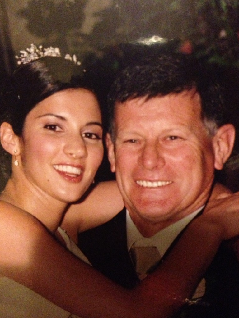 My cousin Kym with her Dad (Uncle Bernard) on her wedding day